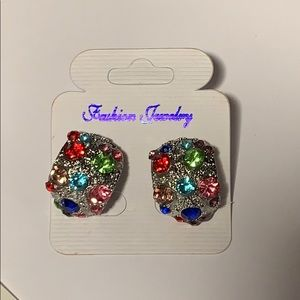 NEW 🌈Rainbow CZ Earrings with multicolor gems